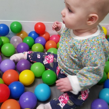 Kat in the Ball Pit