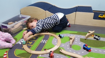 Reece in the Trains Room