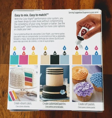Back of coloring kit
