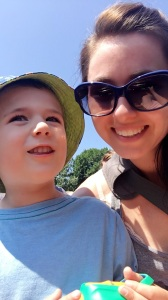 Reece and I on the Swan Boat