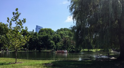Swan boat in Boston Public Garden