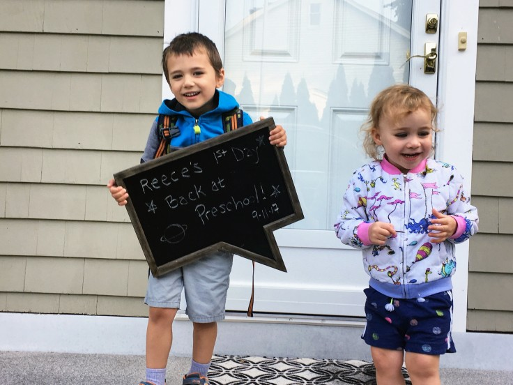 Reece and Kat 1st day school