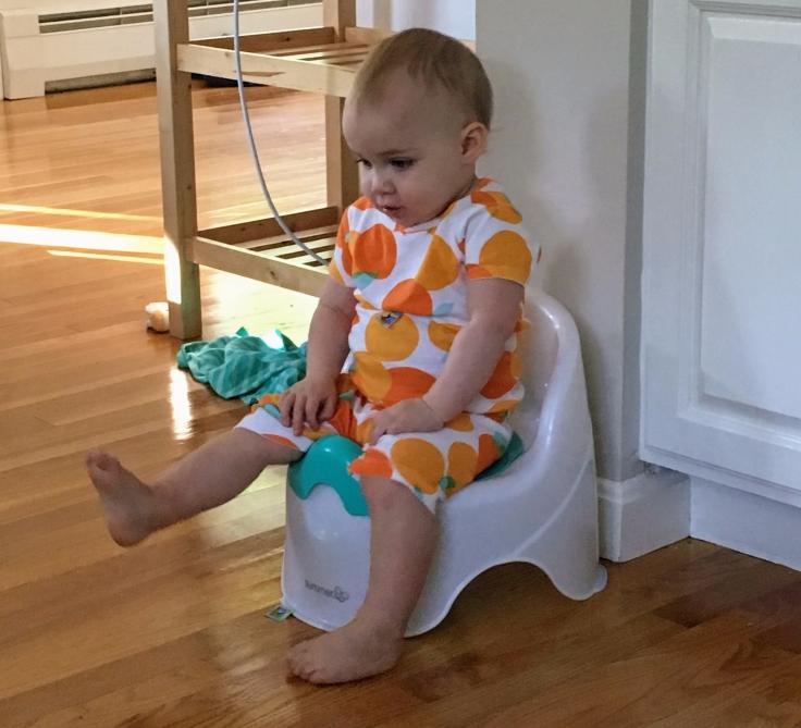 Kat on the potty