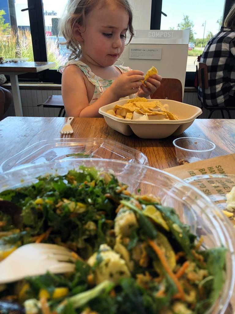 Sweetgreen salad w/ Kat