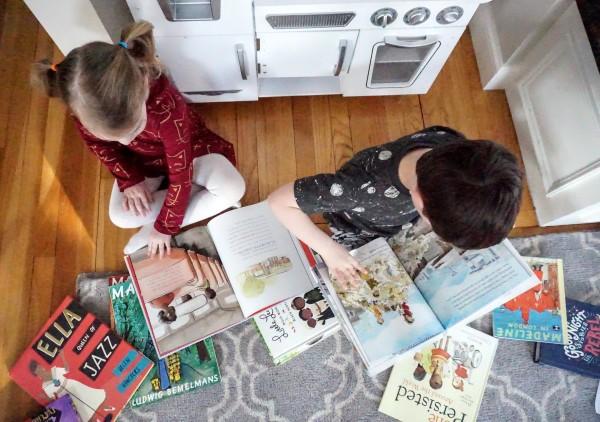 Kat and Reece reading