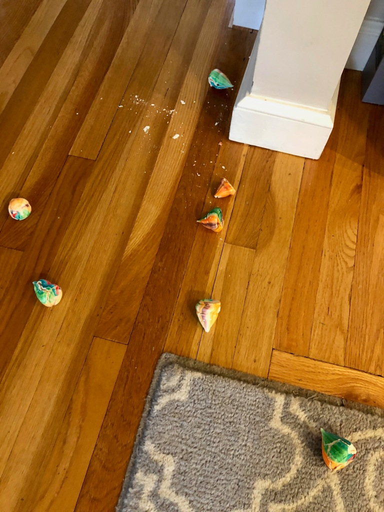 Dropped meringue puffs