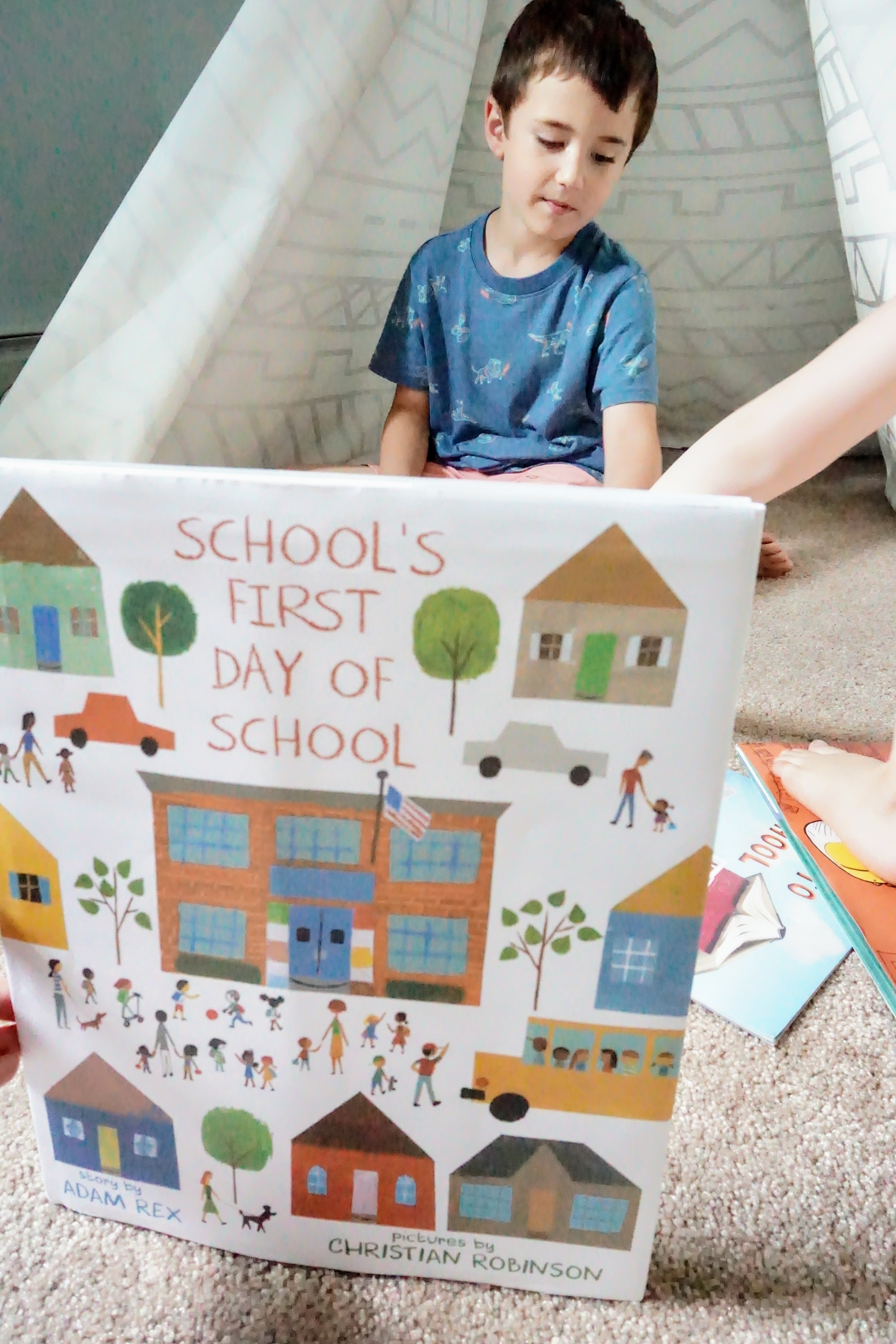 School's First Day of School picture book - kid lit