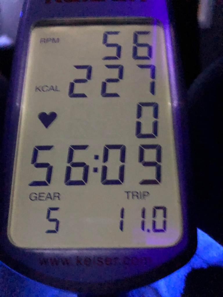 Spin bike stats